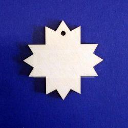 Pentart Fafigura, 5 db/csomag - csillag 22864
