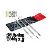 Green Stuff World 3 darabos formázó készlet (3x Sculpting Tools Set) 8436554360116ES