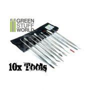 Green Stuff World 10 darabos formázó készlet (10x Sculpting Tools Set) 8436554360123ES