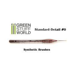 Green Stuff World Brushes Standard Detail 0 Synthetic (Szintetikus hobbi ecset 0)