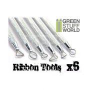 Green Stuff World 6 darabos formázó készlet (3x Mini Ribbon Sculpting Tools Set) 8436554362196ES