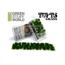 Green Stuff World Grass TUFTS Realisztikus Dark Green színű fűcsomók diorámához (6 mm self-adhesive - DARK GREEN)