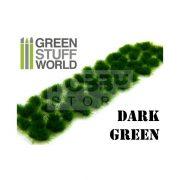 Green Stuff World Grass TUFTS Realisztikus Dark Green színű fűcsomók diorámához (6 mm self-adhesive - DARK GREEN)
