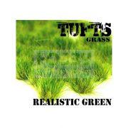 Green Stuff World Grass TUFTS Realisztikus Green színű fűcsomók diorámához (6 mm self-adhesive - REALISTIC GREEN)