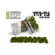 Green Stuff World Grass TUFTS Realisztikus Dry Green színű fűcsomók diorámához (6 mm self-adhesive - DRY GREEN)