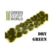 Green Stuff World Grass TUFTS Realisztikus Dry Green színű fűcsomók diorámához (6 mm self-adhesive - DRY GREEN)