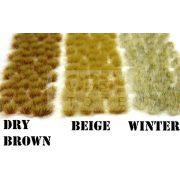 Green Stuff World Grass TUFTS Realisztikus DRY BROWN színű fűcsomók diorámához (6 mm self-adhesive - DRY BROWN)