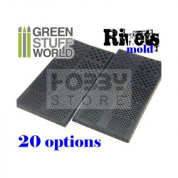 Green Stuff World Rubber molds - RIVETS formagumi (szegecs-csavar mintájú)