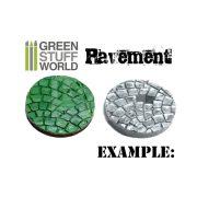 Green Stuff World ROLLING PAVEMENT textúrált formázó rúd (járda mintájú)
