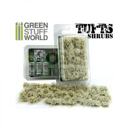 Green Stuff World SHRUBS TUFTS Realisztikus fehér színű cserjék-bokrok diorámához (6 mm self-adhesive - WHITE)