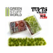 Green Stuff World Grass TUFTS XL Realisztikus fűcsomók diorámához (12mm self-adhesive - REALISTIC GREEN)