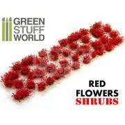 Green Stuff World SHRUBS TUFTS Realisztikus piros színű cserjék-bokrok-virágok diorámához (6 mm self-adhesive - RED Flowers)
