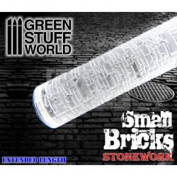 Green Stuff World ROLLING PIN SMALL BRICKS textúrált formázó rúd (tégla-térkő mintájú)