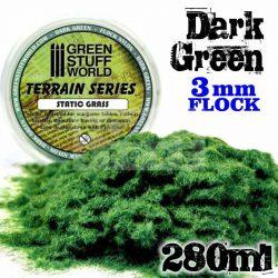 Green Stuff World DARK GREEN statikus szórható műfű (Static Grass Flock - 3 mm - Dark Green - 280 ml)