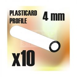 Green Stuff World ABS Plasticard - Profile TUBE 4 mm (ABS cső profil 4 mm)