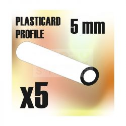 Green Stuff World ABS Plasticard - Profile TUBE 5 mm (ABS cső profil 5 mm)