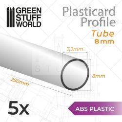 Green Stuff World ABS Plasticard - Profile TUBE 8 mm (ABS cső profil 8 mm)