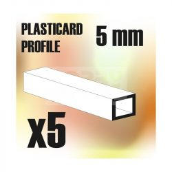 Green Stuff World ABS Plasticard - Profile SQUARED TUBE 5 mm (Négyszög alakú ABS profil 5 mm)