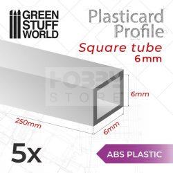 Green Stuff World ABS Plasticard - Profile SQUARED TUBE 6 mm (Négyszög alakú ABS profil 6 mm)