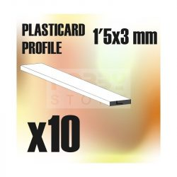 Green Stuff World ABS Plasticard - Profile PLAIN 3 mm (Lapos  ABS Plasztik profil 3 mm)
