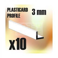 Green Stuff World ABS Plasticard - Profile ANGLE-L 3 mm (L alakú ABS Plasztik profil 3 mm)