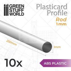 Green Stuff World ABS Plasticard - Profile ROD 1 mm (ABS rúd profil 1 mm)