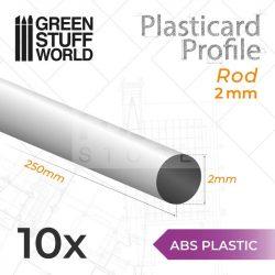 Green Stuff World ABS Plasticard - Profile ROD 2 mm (ABS rúd profil 2 mm)