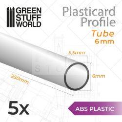 Green Stuff World ABS Plasticard - Profile TUBE 6 mm (ABS cső profil 6 mm)