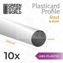 Green Stuff World ABS Plasticard - Profile ROD 4 mm (ABS rúd profil 4 mm)
