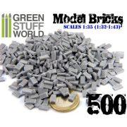 Green Stuff World-Kerámia tégla (szürke) dioráma építéshez (Ceramic bricks. Scale 1:35 500X)