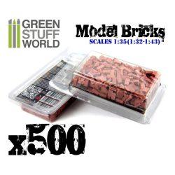 Green Stuff World Kerámia tégla (vörös) dioráma építéshez (Ceramic bricks. Scale 1:35 500X)