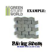 Green Stuff World Kerámia térkő (szürke) dioráma építéshez (Ceramic bricks. Scale 1:35 500X)