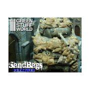 Green Stuff World Flexibilis homokzsák (Flexible SANDBAGS x25) dioráma építéshez