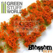 Green Stuff World BLOSSOM TUFTS Realisztikus narancssárga színű virágcsomók diorámához (6 mm self-adhesive - ORANGE Flowers)