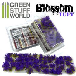 Green Stuff World BLOSSOM TUFTS Realisztikus lila színű virágcsomók diorámához (6 mm self-adhesive - PURPLE Flowers)