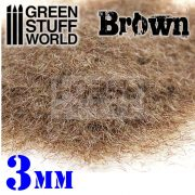 Green Stuff World BROWN statikus szórható műfű (Static Grass Flock - 3 mm - Brown - 280 ml)
