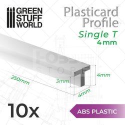 Green Stuff World ABS Plasticard - Profile T 4 mm ( ABS T profil 4 mm)