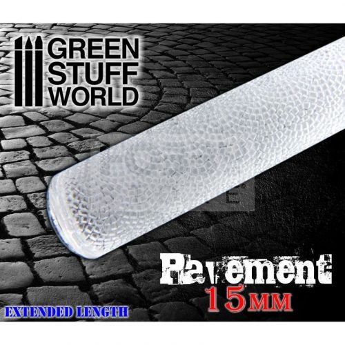 Green Stuff World ROLLING PIN PAVEMENT textúrált formázó rúd (járda mintájú)