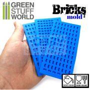 Green Stuff World Silicone molds - BRICKS szilikon formagumi (tégla mintájú)