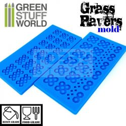 Green Stuff World Silicone molds - GRASS PAVER szilikon formagumi (térkő mintájú)