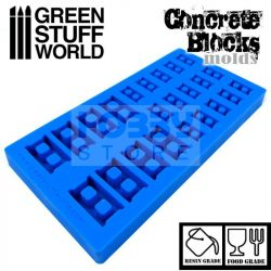 Green Stuff World Silicone molds - Concrete Bricks szilikon formagumi (Betontégla mintájú)