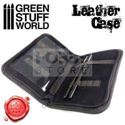 Green Stuff World Univerzális tok szerszámok és ecsetek tárolásához (Premium Leather Case for Tools and Brushes) 8436554369713ES