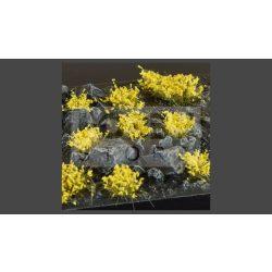 GAMERS GRASS BLOSSOM TUFTS Realisztikus sárga színű virágcsomók diorámához (4-6 mm self-adhesive - Yellow Flowers)