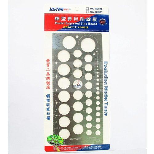 U-STAR makettező karcoló sablon (Model Engraved Line Board) UA80026