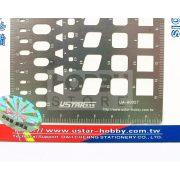 U-STAR modellező karcoló sablon (Model Engraved Line Board) UA80027