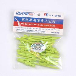 U-STAR Csipesz készlet makett festéshez (Clip Kit 20 in 1, green color, PVC materials) UA90030