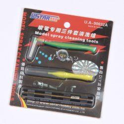 U-STAR Szórópisztoly tisztító készlet (Airbrush Cleaning Tool 3 in 1) UA90032A