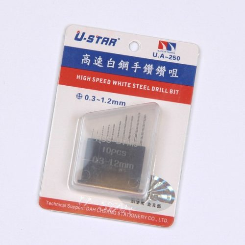 U-STAR Fúrószár készlet (Drill Bit Kit 10 in 1 0.3-1.2mm) UA90250