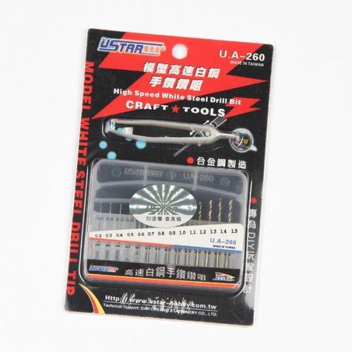 U-STAR Fúrószár készlet (Drill Bit Kit 14 in 1  0.2-1.5mm) UA90260