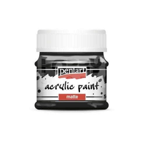 Pentart Matt fekete színű akril bázisú hobbi festék 50 ml 1119